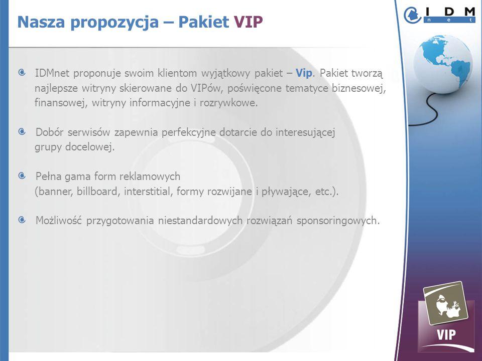 IDMnet proponuje swoim klientom wyjątkowy pakiet – Vip.