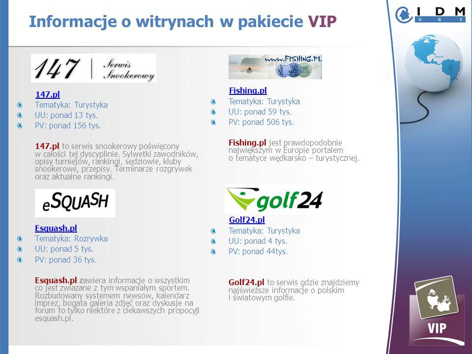 147.pl Tematyka: Turystyka UU: ponad 13 tys. PV: ponad 156 tys.