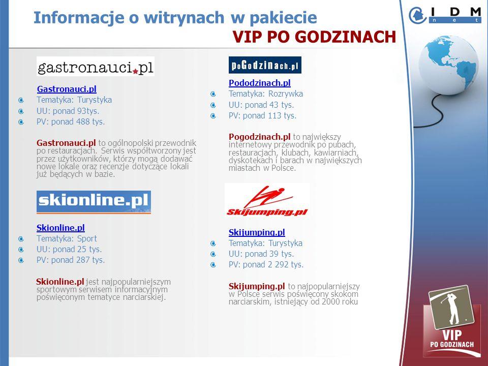 Gastronauci.pl Tematyka: Turystyka UU: ponad 93tys.