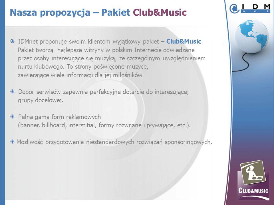 IDMnet proponuje swoim klientom wyjątkowy pakiet – Club&Music.