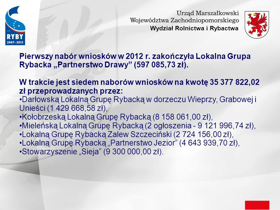 Wydział Rolnictwa i Rybactwa Pierwszy nabór wniosków w 2012 r.