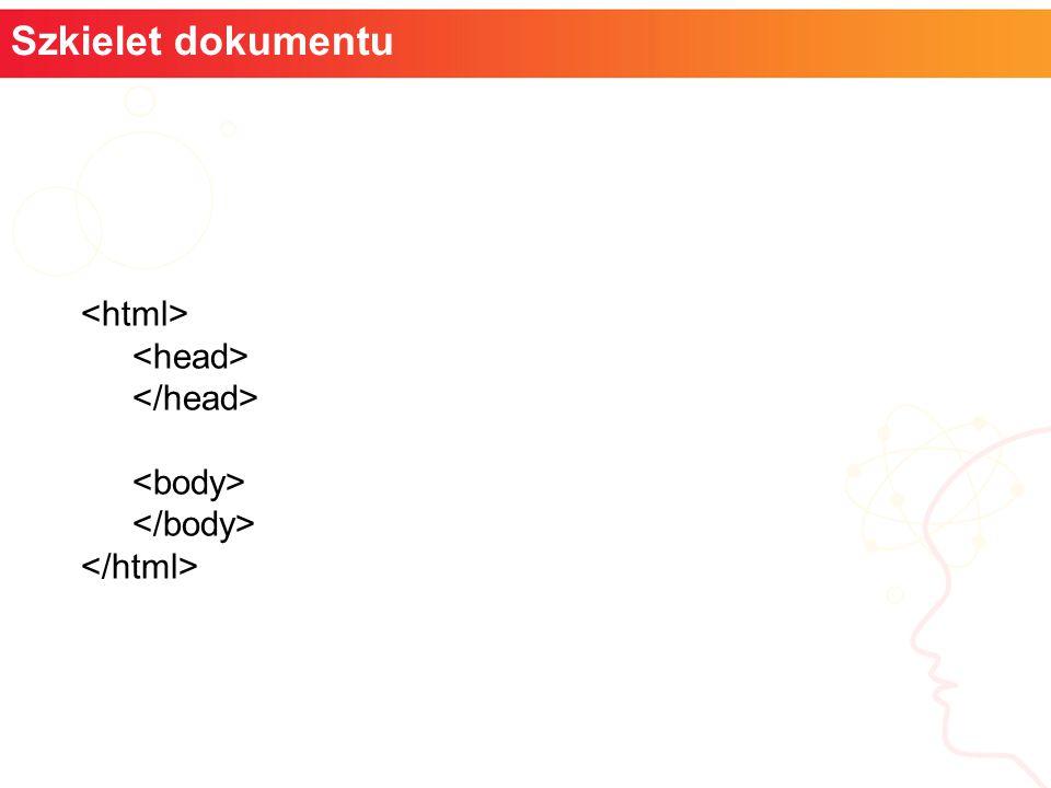 informatyka + Szkielet dokumentu