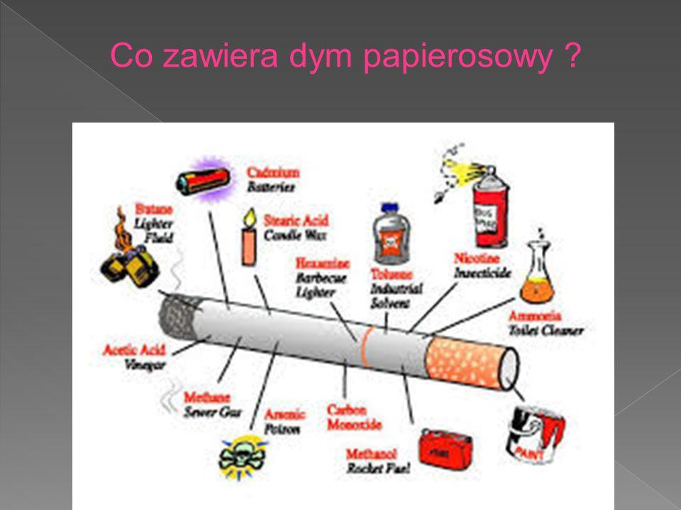 Co zawiera dym papierosowy ?