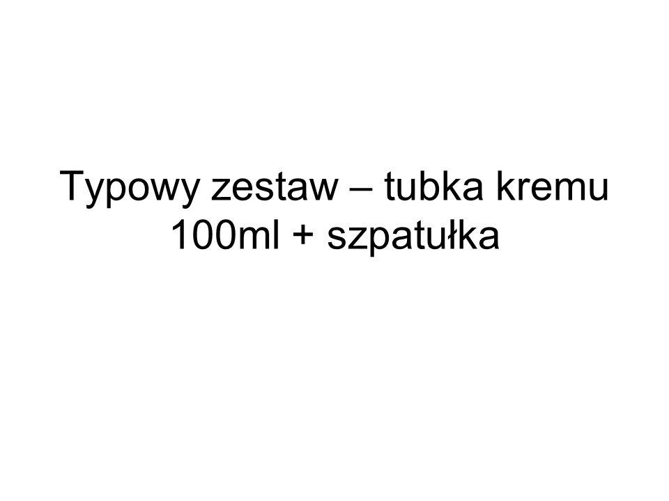 Typowy zestaw – tubka kremu 100ml + szpatułka