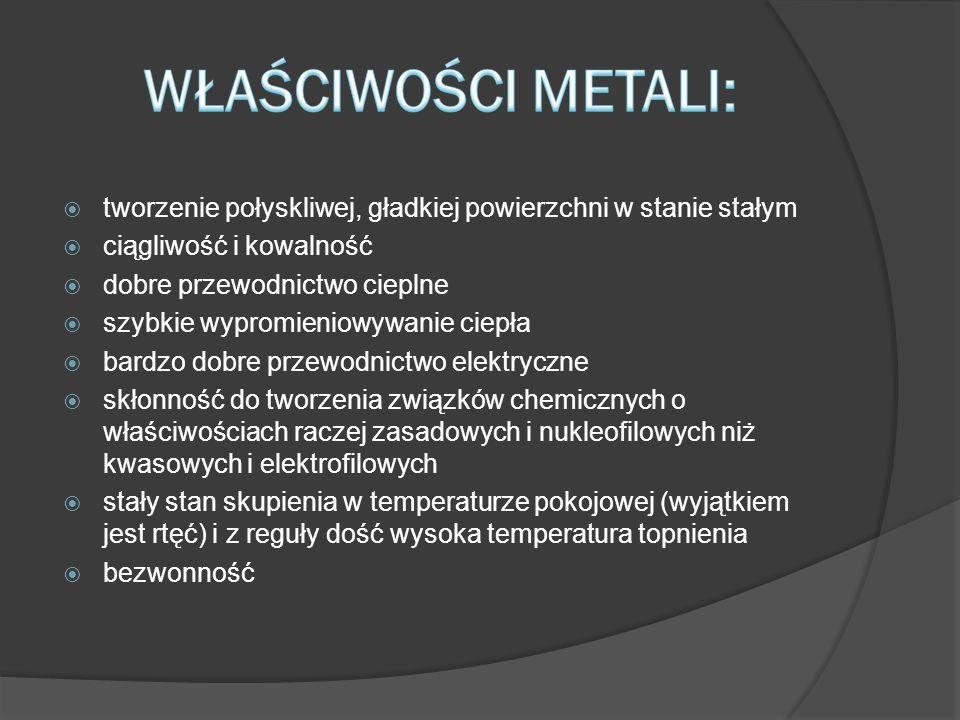 Pierwiastki metaliczne występują w przyrodzie przeważnie w postaci rud, które są przerabiane na czyste metale na drodze różnych procesów metalurgicznych.