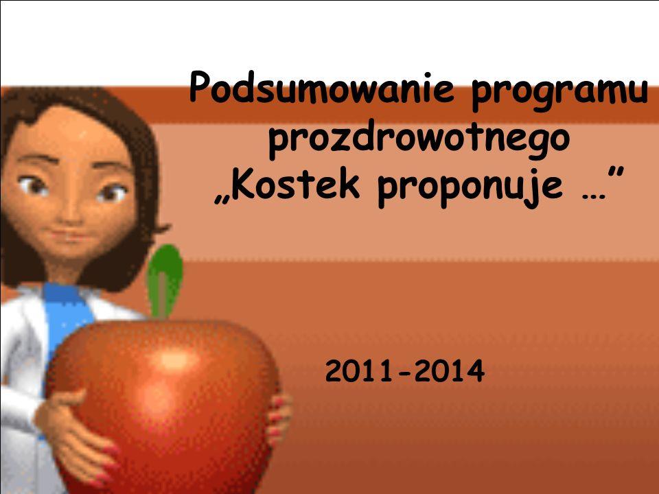 """Podsumowanie programu prozdrowotnego """"Kostek proponuje … 2011-2014"""