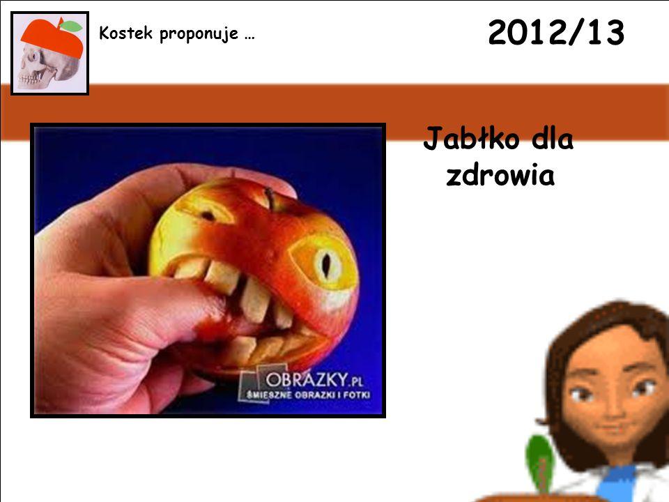 2012/13 Jabłko dla zdrowia Kostek proponuje …