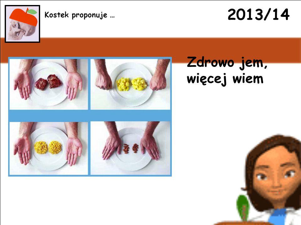 2013/14 Zdrowo jem, więcej wiem Kostek proponuje …