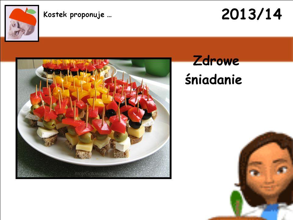 2013/14 Zdrowe śniadanie Kostek proponuje …