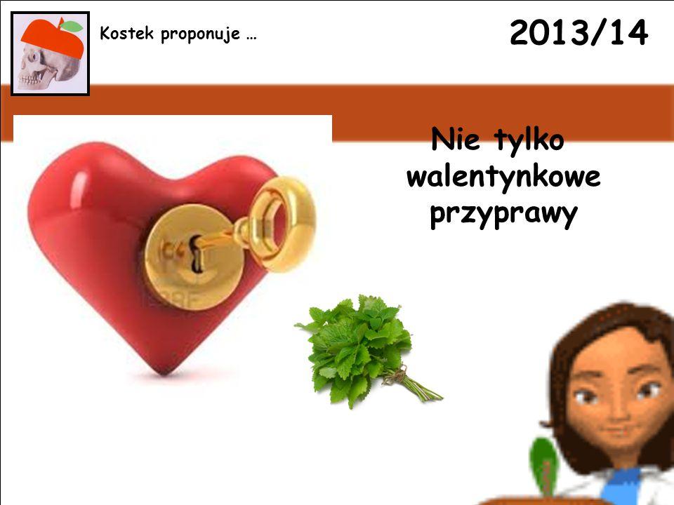 2013/14 Nie tylko walentynkowe przyprawy Kostek proponuje …