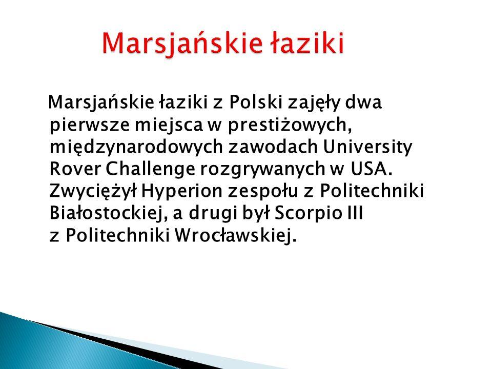 Marsjańskie łaziki z Polski zajęły dwa pierwsze miejsca w prestiżowych, międzynarodowych zawodach University Rover Challenge rozgrywanych w USA.
