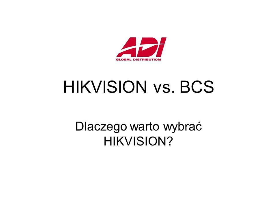 HIKVISION vs. BCS Dlaczego warto wybrać HIKVISION?