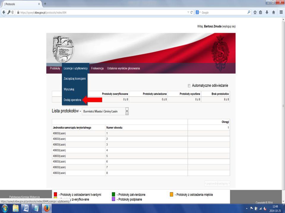 """W przypadku zmian plików inicjujących (pliki klk) tuż przed dniem głosowania lub w dniu głosowania Pełnomocnicy TKW zobowiązani są do pobrania nowych plików (ze strony podanej przez pracownika Delegatury KBW w Toruniu- prawdopodobnie Syswyb) i przekazania na nośnikach operatorom (wszystkim off-line oraz tym on-line, które zgłosiły problem z pobraniem plików klk poprzez program """"Kalkulator )."""