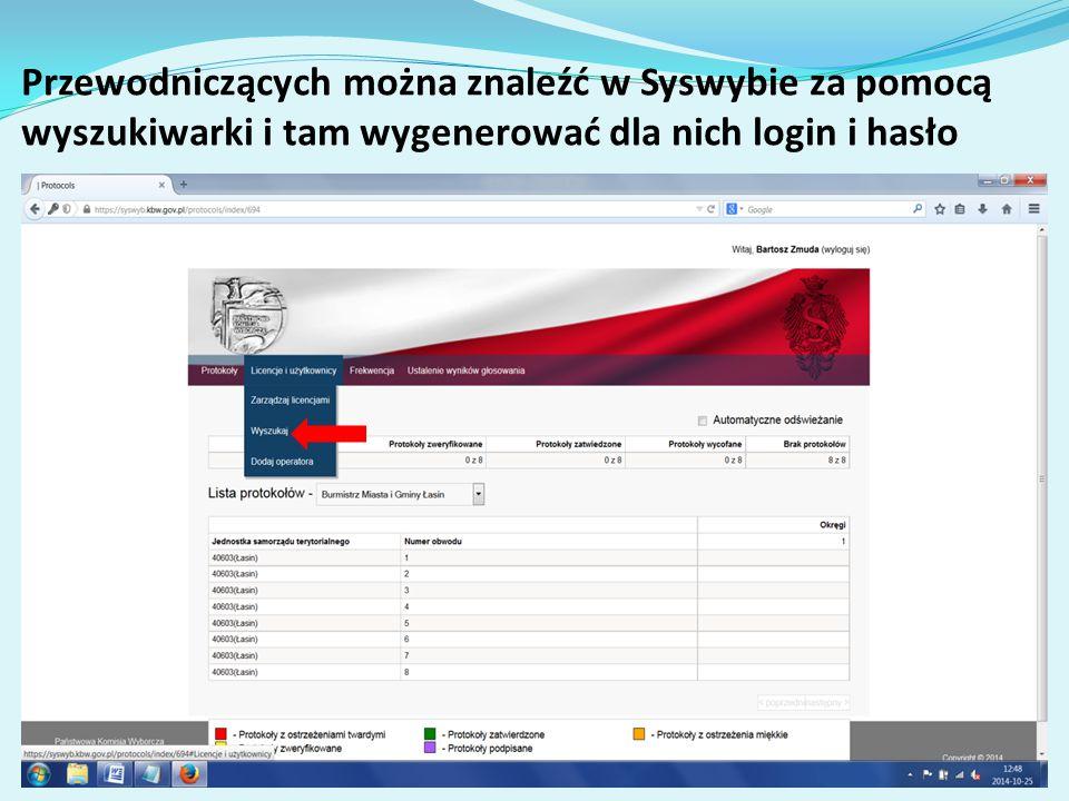 Licencje-Sytuacje awaryjne W przypadku utraty/zdyskredytowania loginu i hasła do pobrania licencji bądź hasła zabezpieczającego samą licencję a także utraty samej licencji, operatorzy/przewodniczący kontaktują się z Wami-Pełnomocnikami TKW, a wtedy Wy w Syswybie unieważniacie licencje i wytwarzacie nowy komplet loginu i hasła, pozwalające raz jeszcze złożyć żądanie wydania licencji.