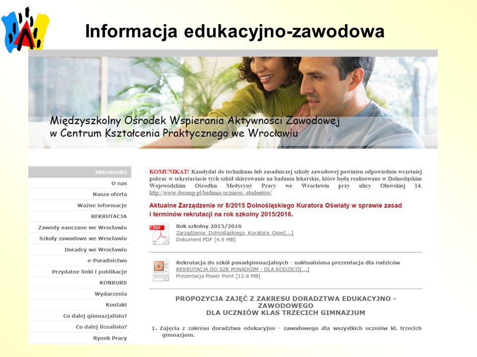 Informacja edukacyjno-zawodowa