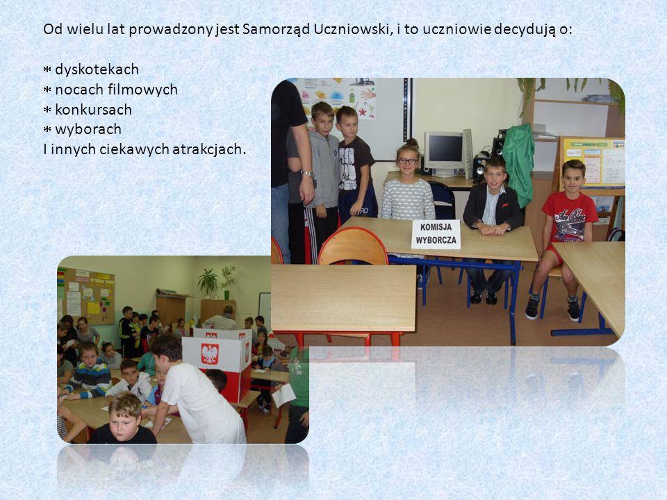 Od wielu lat prowadzony jest Samorząd Uczniowski, i to uczniowie decydują o:  dyskotekach  nocach filmowych  konkursach  wyborach I innych ciekawych atrakcjach.