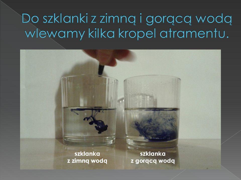 szklanka z zimną wodą szklanka z gorącą wodą