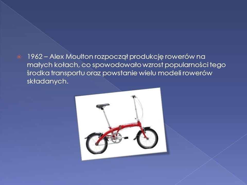  1962 – Alex Moulton rozpoczął produkcję rowerów na małych kołach, co spowodowało wzrost popularności tego środka transportu oraz powstanie wielu mod