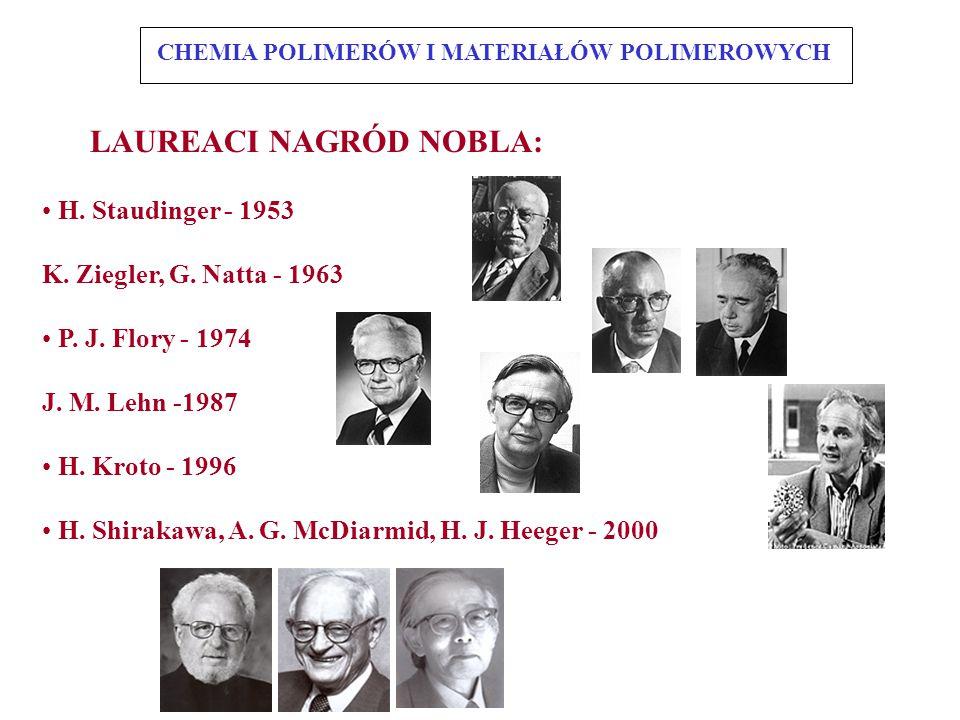LAUREACI NAGRÓD NOBLA: H. Staudinger - 1953 K. Ziegler, G.