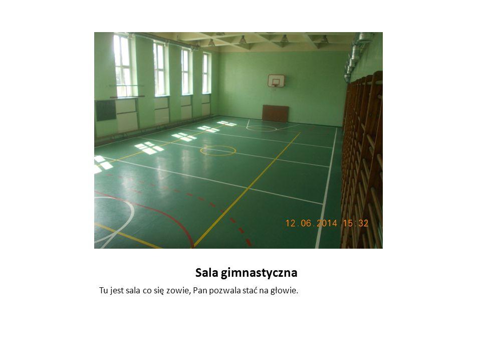 Sala gimnastyczna Tu jest sala co się zowie, Pan pozwala stać na głowie.
