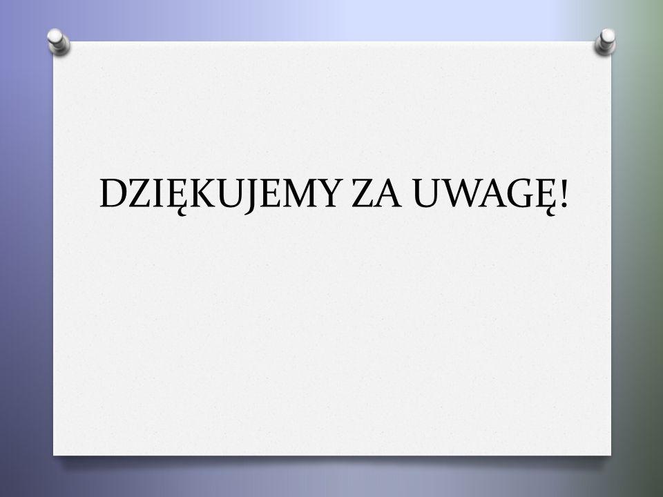 DZIĘKUJEMY ZA UWAGĘ!