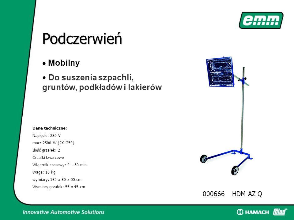 Podczerwień Dane techniczne: Napięcie: 400 V Moc: 5000 W (4X1250) Ilość grzałek: 4 Podczerwień halogenowa Wyłącznik czasowy: 0 – 60 min. Waga: 28 kg W