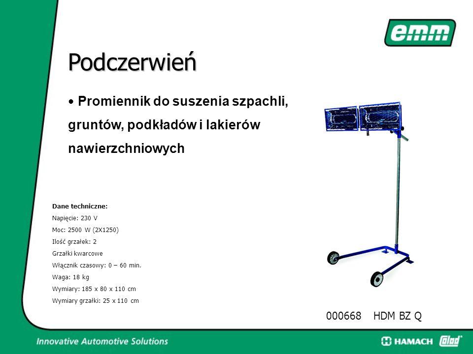 Podczerwień 000666HDM AZ Q Dane techniczne: Napięcie: 230 V moc: 2500 W (2X1250) Ilość grzałek: 2 Grzałki kwarcowe Włącznik czasowy: 0 – 60 min. Waga: