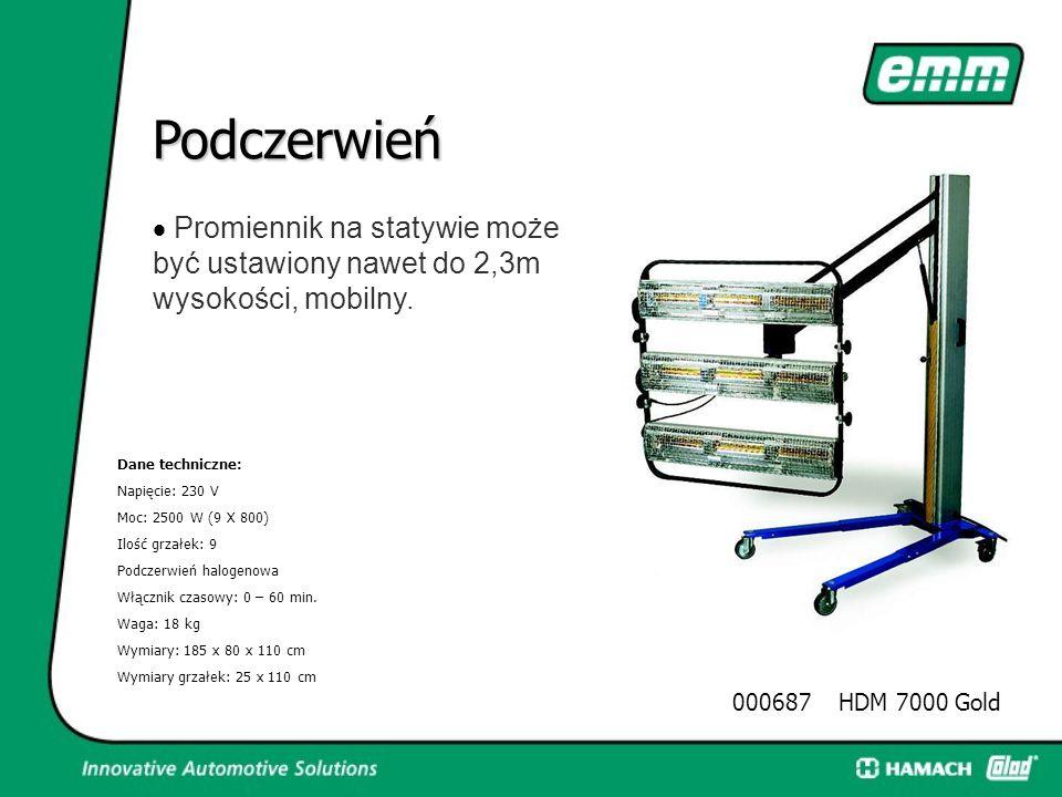 Podczerwień  Promiennik o bardzo dużej mocy na statywie Dane techniczne: Napięcie: 230 V Moc: 3200 W (4 X 800) Ilość grzałek: 4 Podczerwień halogeno