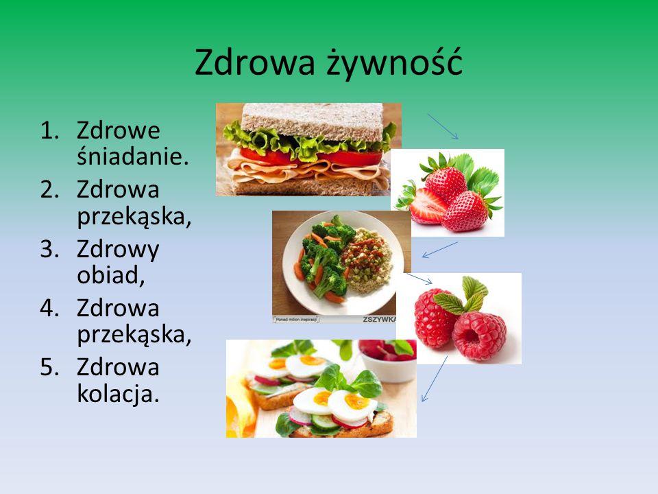 Zdrowa żywność 1.Zdrowe śniadanie.