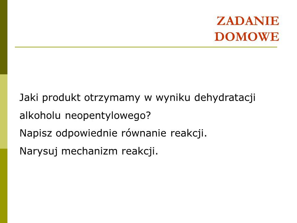 Dehydratacja alkoholi 1.