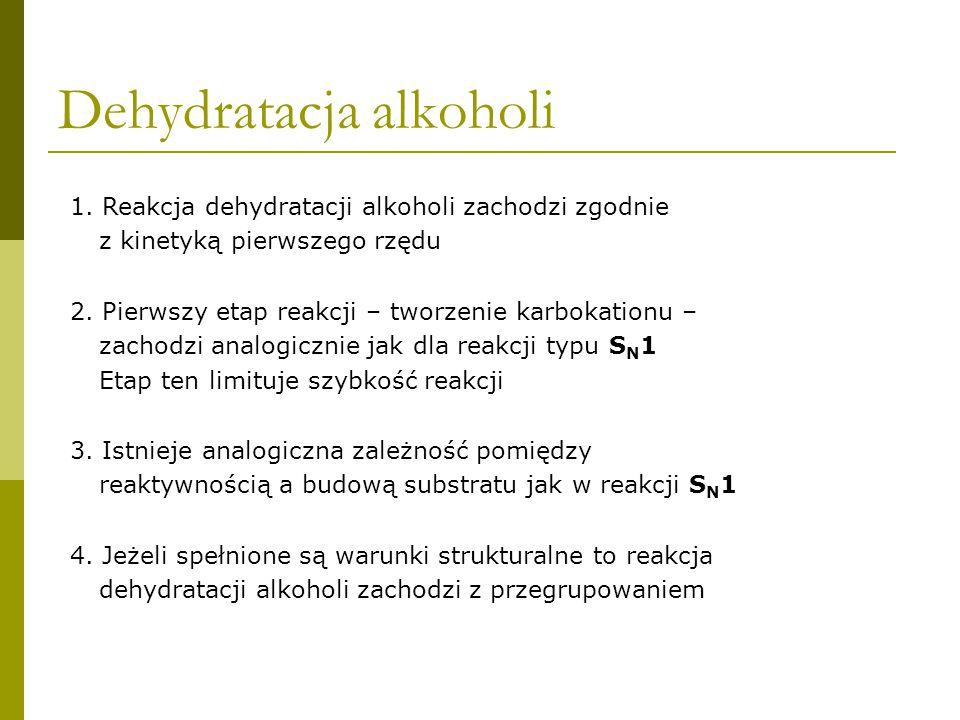 Dehydratacja alkoholi E1 Eliminacja jednocząsteczkowa