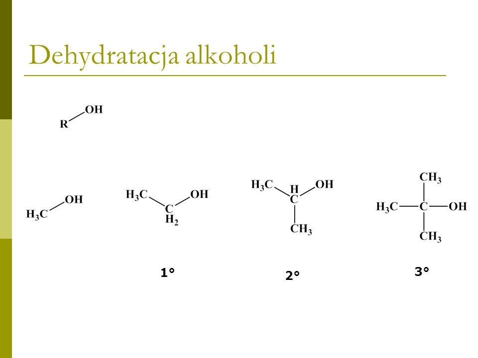 1.Ogrzewanie alkoholu z kwasem siarkowym lub fosforowym 2.