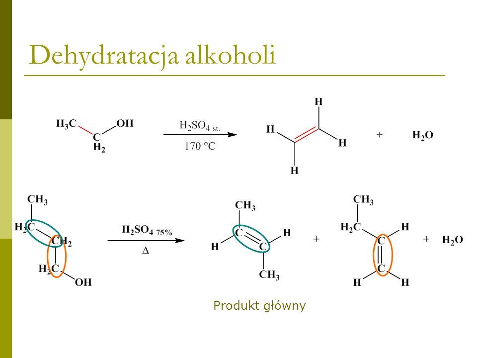 Dehydratacja alkoholi Produkt główny
