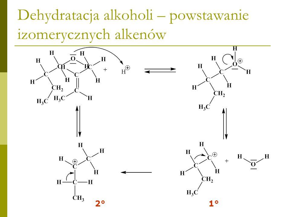 ZADANIE DOMOWE Jaki produkt otrzymamy w wyniku dehydratacji alkoholu neopentylowego.