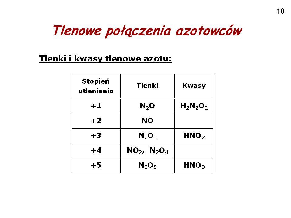 10 Tlenowe połączenia azotowców