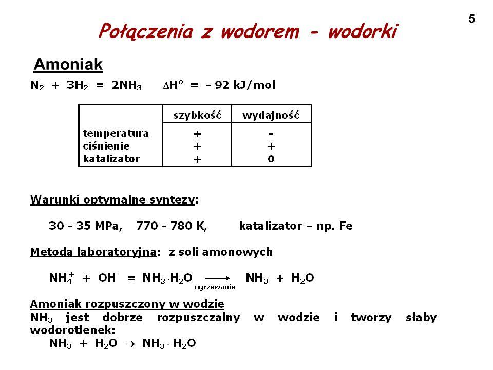 5 Połączenia z wodorem - wodorki Amoniak