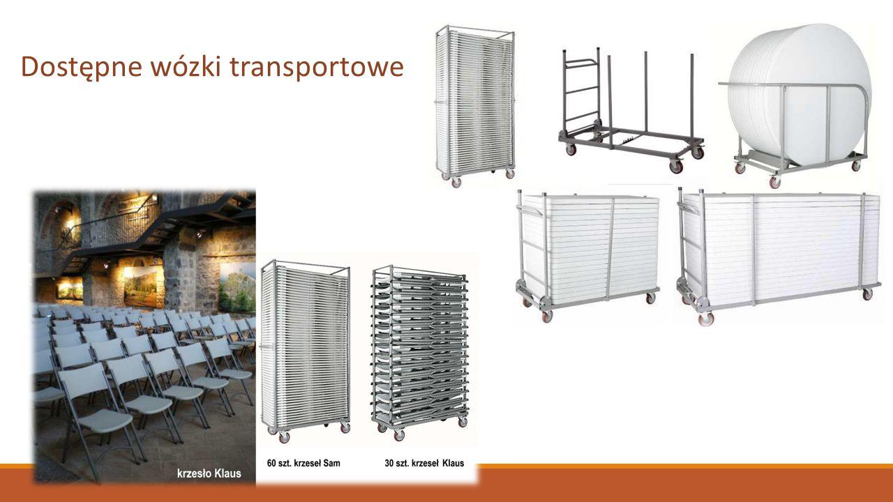 Dostępne wózki transportowe