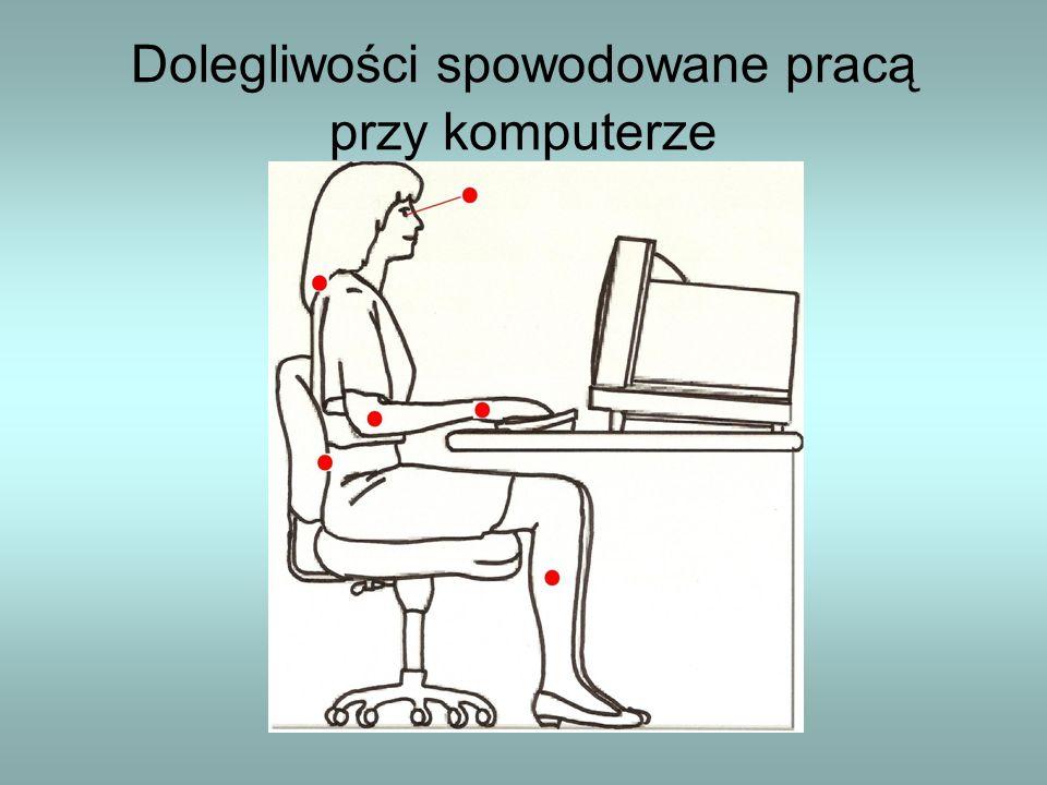 Dolegliwości spowodowane pracą przy komputerze