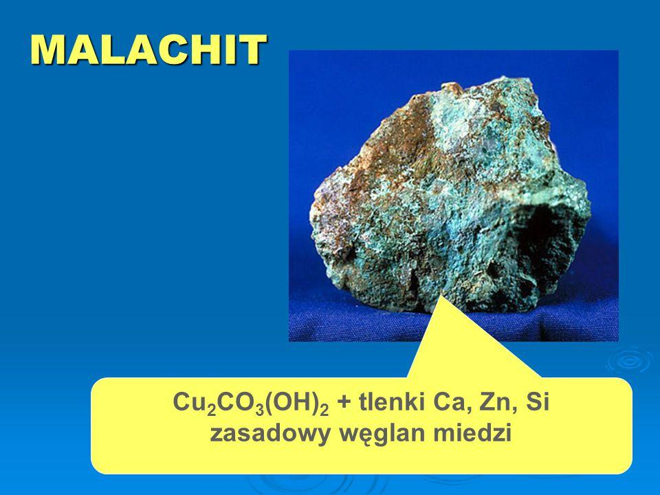AZURYT Cu 3 (CO 3 )(OH) 2 zasadowy węglan miedzi