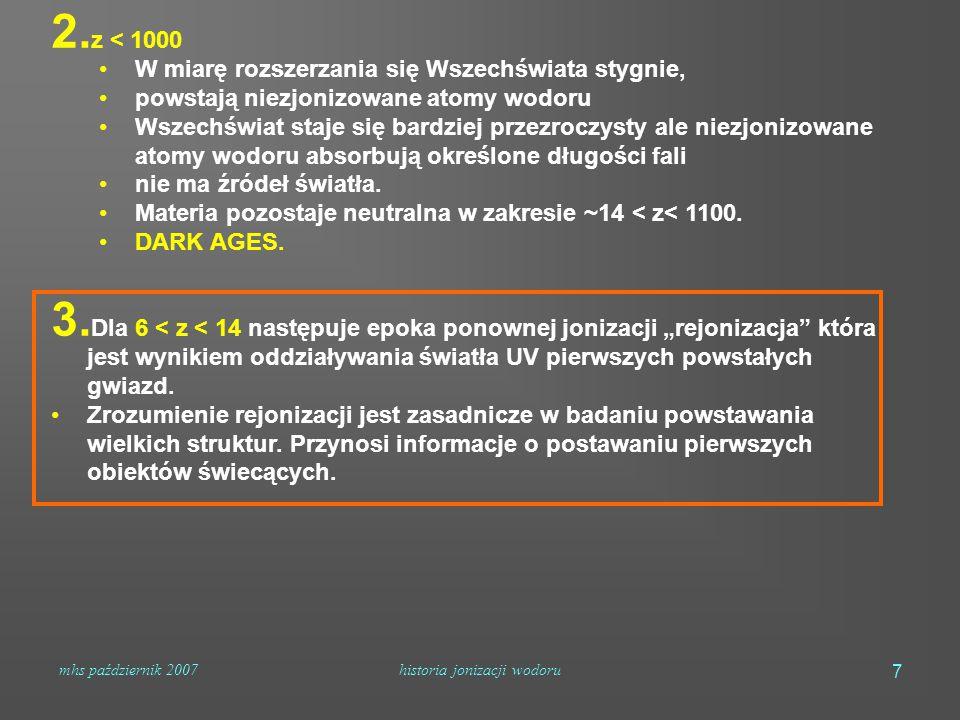 mhs październik 2007historia jonizacji wodoru 7 2.