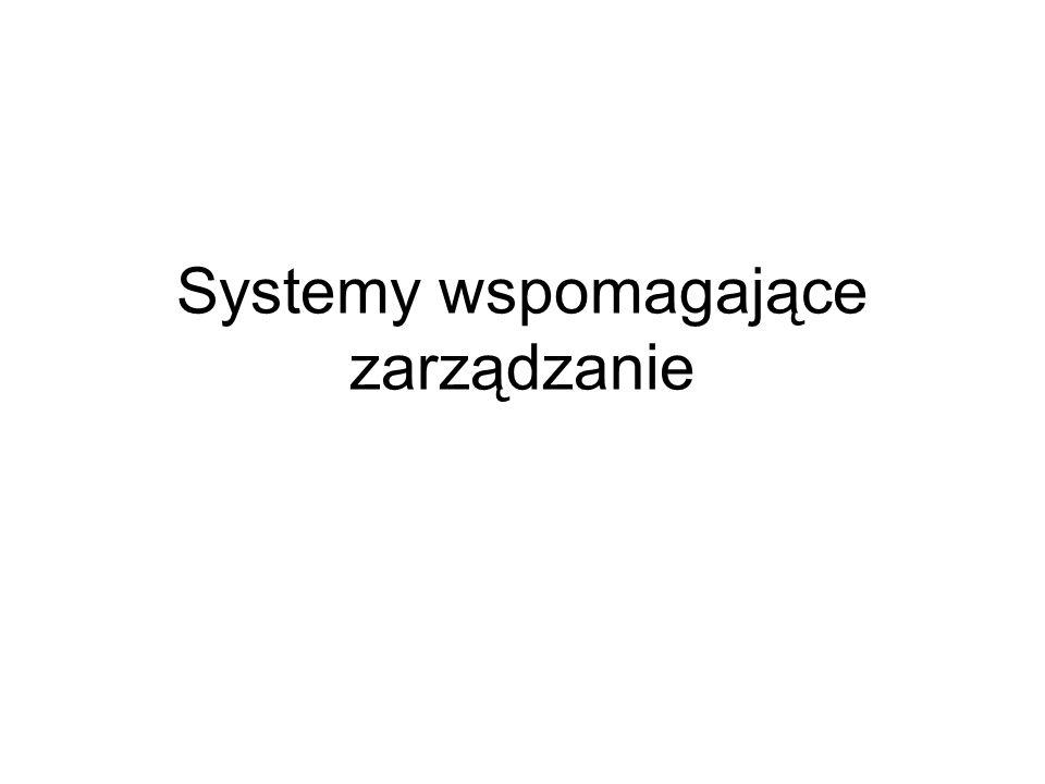 Systemy wspomagające zarządzanie