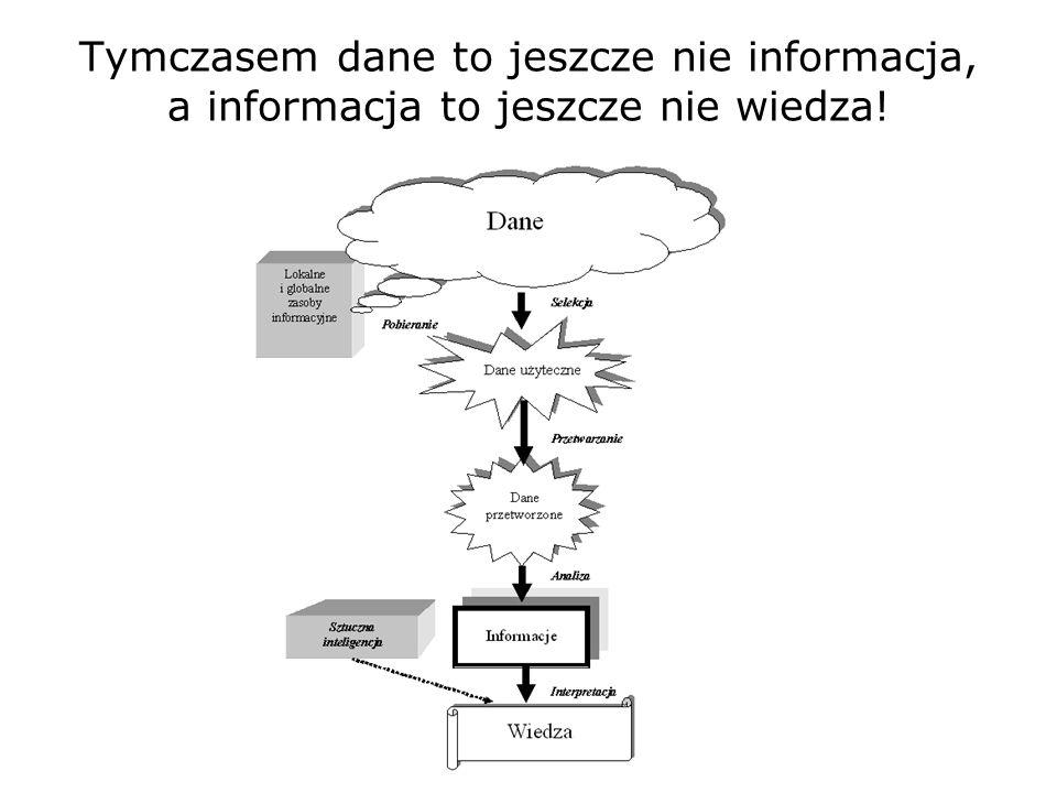 nowych Skąd się bierze potrzeba tworzenia nowych systemów informacyjnych? Komputery, które miały przynieść strumienie informacji, zalewają nas potopem