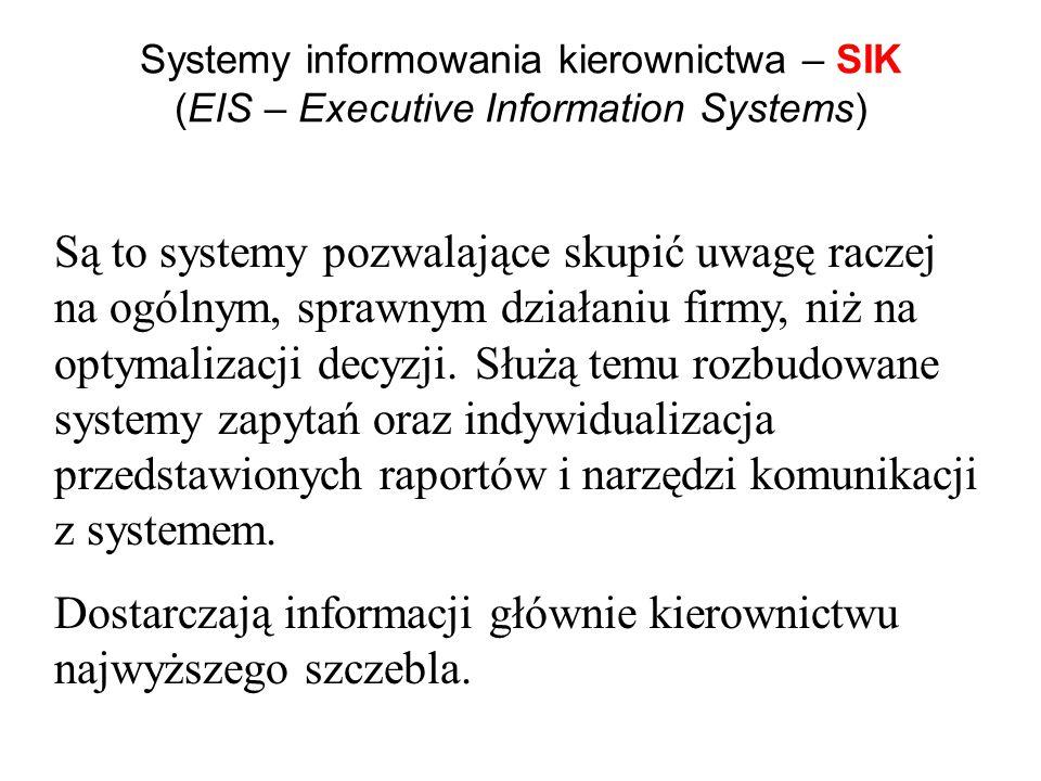 Obecnie najpowszechniej używane są ZSI klasy ERP Do Zintegrowanych Systemów Informatycznych cieszących się ogromnym powodzeniem zalicza się systemy kl