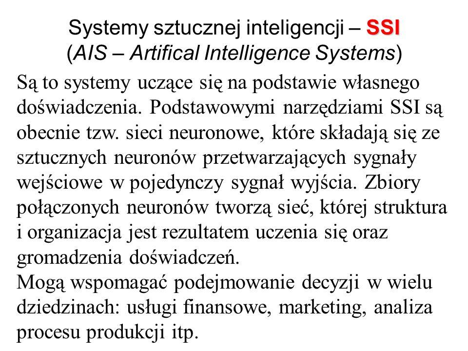 Systemy eksperckie – SE (ES- Expert Systems) Określane są często jako komputerowe systemy rozwiązujące problemy z wykorzystaniem opisu (reprezentacji)