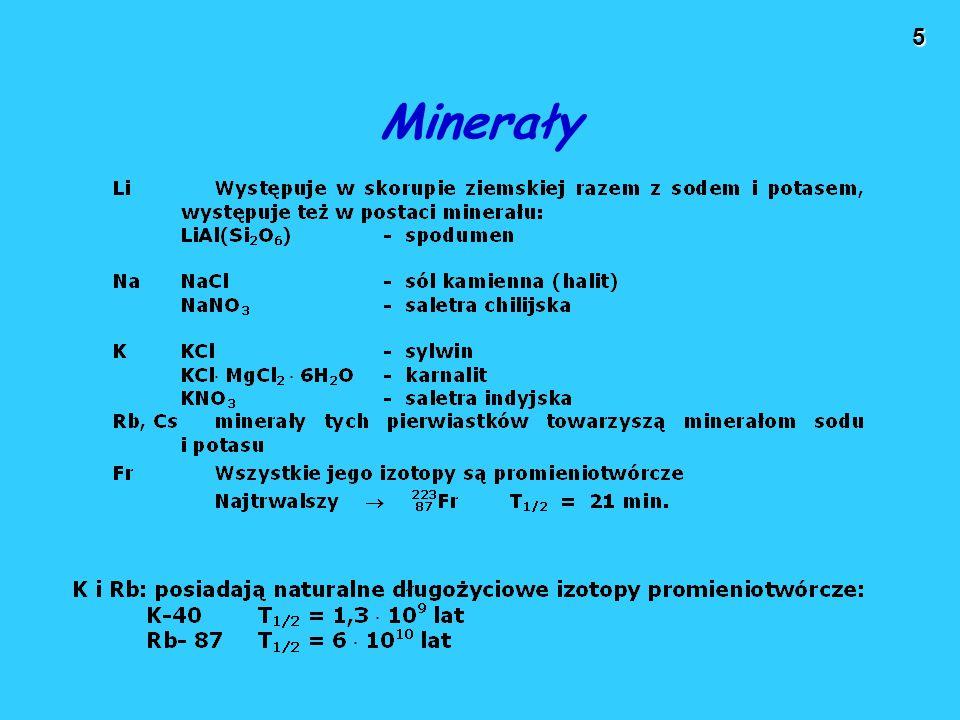 5 Minerały