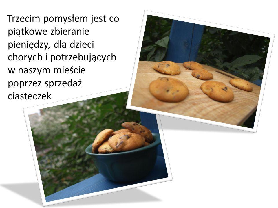 Sprzedaż ciasteczek odbywać się będzie co piątek w gimnazjach w naszym mieście oraz przy Kościołach od godziny 16.00 do 19.00.
