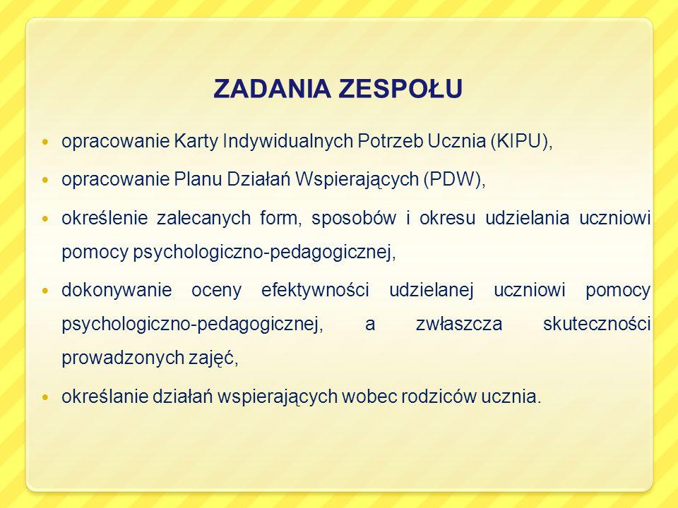 PRZYKŁADOWA KARTA INDYWIDUALNYCH POTRZEB UCZNIA (KIPU) uczeń klasy VI