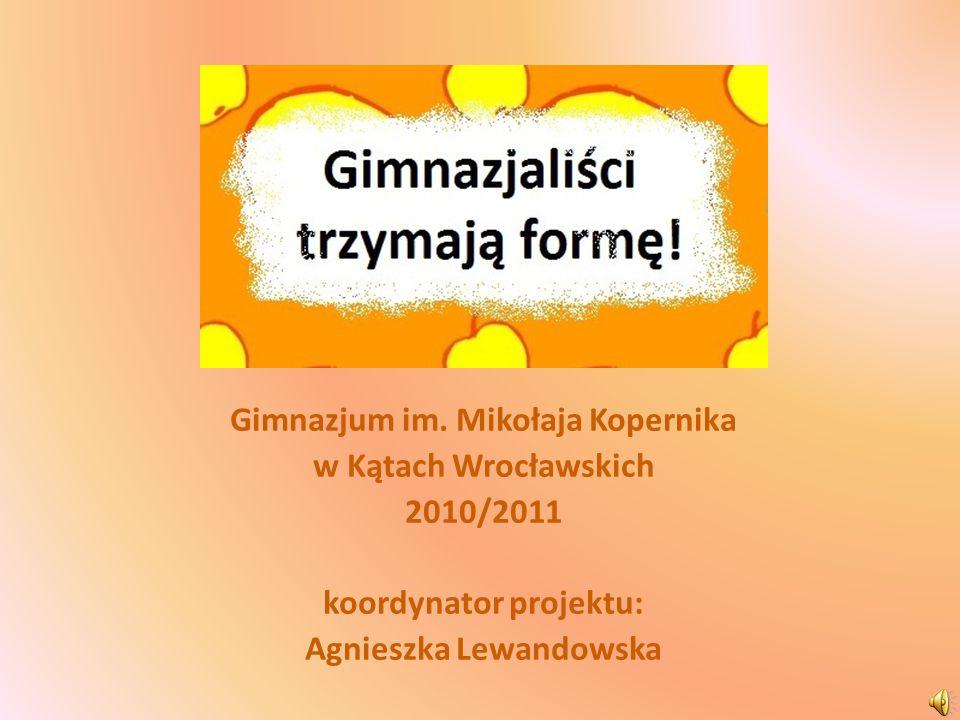 Gimnazjum im. Mikołaja Kopernika w Kątach Wrocławskich 2010/2011 koordynator projektu: Agnieszka Lewandowska