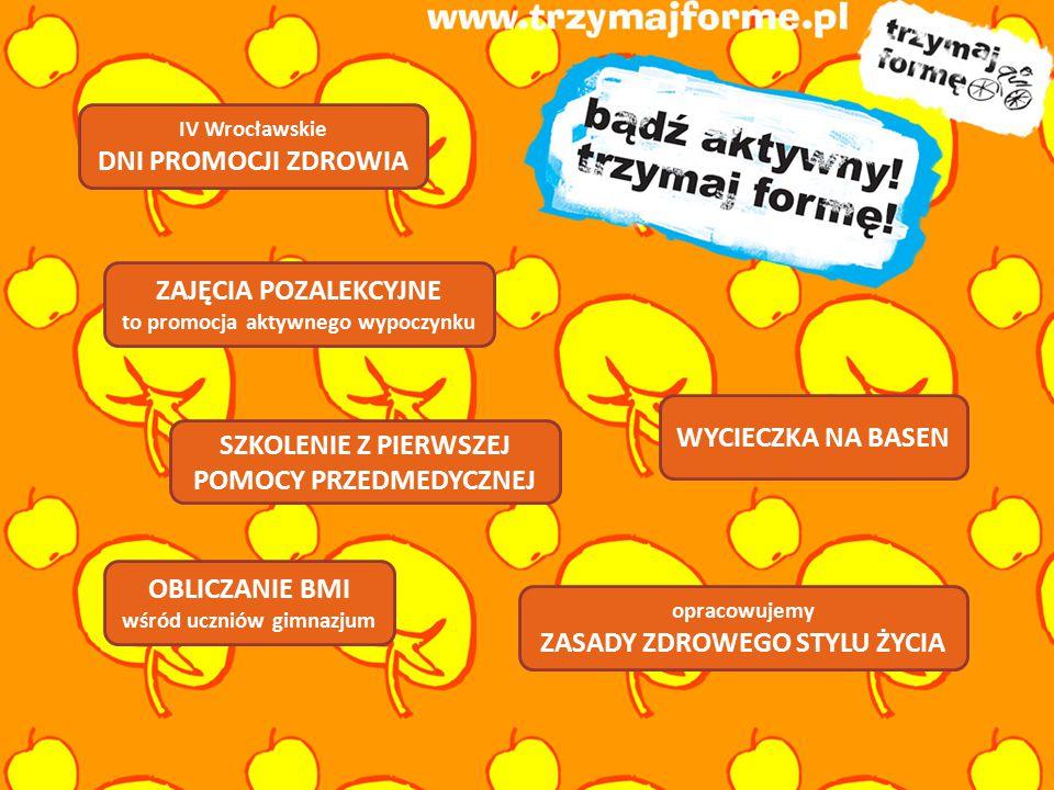 IV WROCŁAWSKIE DNI PROMOCJI ZDROWIA  BIEG PO ZDROWIE 25 września 2010 roku w Parku Słowackiego uczniowie gimnazjum udziałem w IV Wrocławskich Dniach Promocji Zdrowia rozpoczęli realizację projektu.
