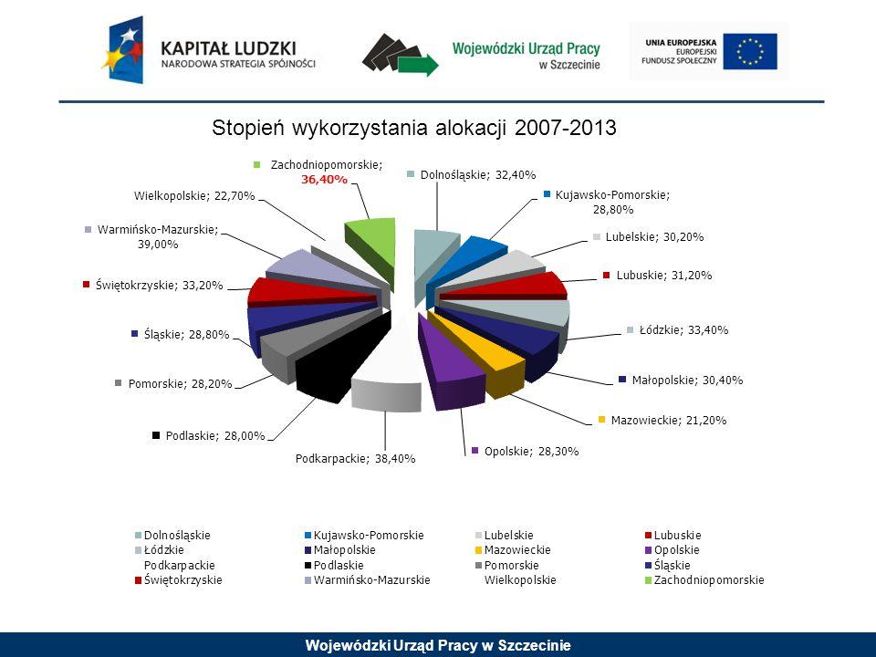 Wojewódzki Urząd Pracy w Szczecinie Szczegółowe kryteria dostępu (kryterium obligatoryjne): 6.Projekt jest realizowany w szkołach lub placówkach oświatowych, w których w 2009 r.